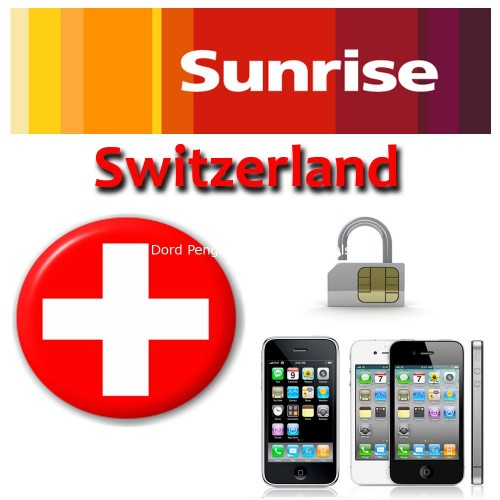 Sunrise Switzerland Iphone 3G / 3GS / 4 (OUT OF CONTRACT)
