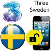 Sweden 3 Three Hutchison iPhone 2G / 3G / 3GS / 4 / 4S / 5 / 5S / 5C