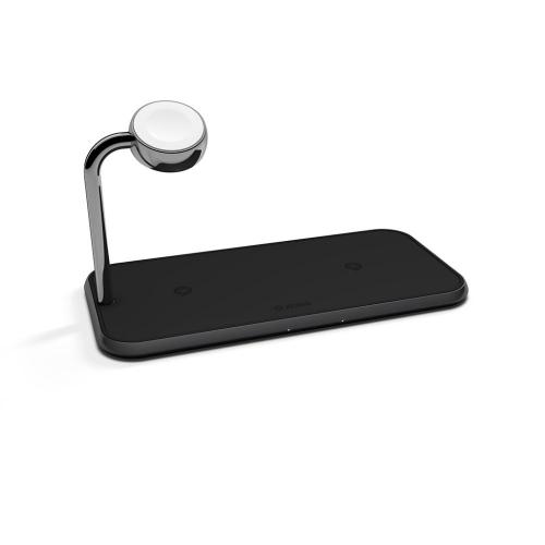 Беспроводное зарядное устройство Zens Dual Aluminium Wireless Charger + Apple Watch 10W Black