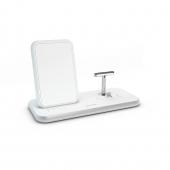 Беспроводное зарядное устройство Zens Stand + Dock Aluminium Wireless Charger 10W White (ZEDC06W/00)