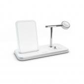 Беспроводное зарядное устройство Zens Stand + Dock + Watch Aluminium Wireless Charger 10W White (ZEDC07W/00)