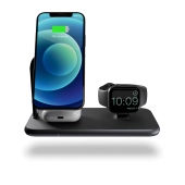 Zens Magnetic + Watch Aluminium Wireless Charger Black with 30W USB-C PD Wall Charger (ZEDC18B/00)