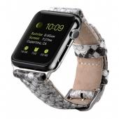 Ремешок Melkco Premium Leather Strap (White Snake Skin Pattern) for Apple Watch 42mm (APIW42LSST1WESK)