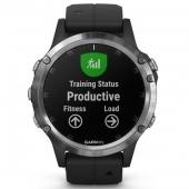 Спортивные часы Garmin fenix 5 Plus Silver with Black Band (010-01988-11)