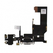 Шлейф порта зарядки (Flat Cable Charger with HF Dock Connector) iPhone 5 High Copy Black/White