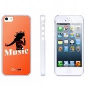 Накладка Ou.case Music для Apple iPhone 5/5S, Orange
