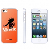 Накладка Ou.case Music для Apple iPhone 5/5S, Orange