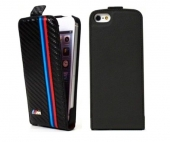 BMW M collection leather flip case for iPhone 5/5S