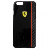 Чехол Ferrari Scuderia Hard Case Black Glossy & Real Carbon Fiber Plate for iPhone 6/6S (FECBSHCP6BK)