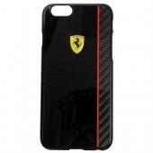 Чехол Ferrari Scuderia Hard Case Black Glossy & Real Carbon Fiber Plate for iPhone 6/6S (FECBSHCP6BK)