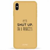 Чехол Pump Silicone Minimalistic Case for iPhone XS Max I'm a Princess