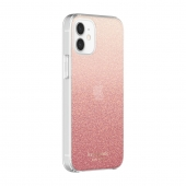 Kate Spade New York Protective Hardshell Case for iPhone 12, Glitter Ombre Sunset Pink (KSIPH-151-GLOSN)