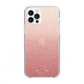 Kate Spade New York Protecite Hardshell Case for iPhone 12/12 Pro, Glitter Ombre Sunset Pink (KSIPH-153-GLOSN)