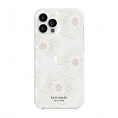 Kate Spade New York Protective Hardshell Case for iPhone 12 Pro Max, Hollуhock Floral Clear (KSIPH-154-HHCCS)