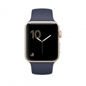 Часы Apple Watch Series 1 42mm Gold Aluminum Case with Midnight Blue Sport Band (MQ122)