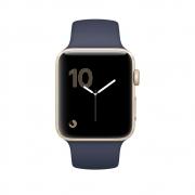 Часы Apple Watch Series 1 42mm Gold Aluminum Case with Midnight Blue Sport Band (MQ122)