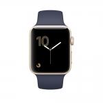Apple Watch Series 1 38mm Gold Aluminum Case with Midnight Blue Sport Band (MQ102)