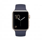 Часы Apple Watch Series 2 42mm Gold Aluminum Case with Midnight Blue Sport Band (MQ152)