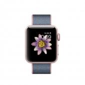 Часы Apple Watch Series 2 38mm Rose Gold Aluminum Case with Light Pink/Midnight Blue Woven Nylon Band (MNP02)