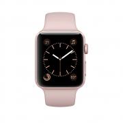 Часы Apple Watch Series 2 42mm Rose Gold Aluminium Case with Pink Sand Sport Band (MQ142)