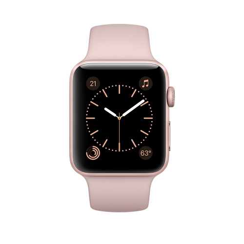 Часы Apple Watch Series 2 42mm Rose Gold Aluminium Case with Pink Sand Sport Band (MQ142)