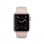 Часы Apple Watch Series 2 38mm Rose Gold Aluminum Case with Pink Sand Sport Band (MNNY2)