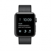 Акция! Apple Watch Series 2 38mm Space Gray Aluminum Case with Black Woven Nylon Sport Band (MP052)