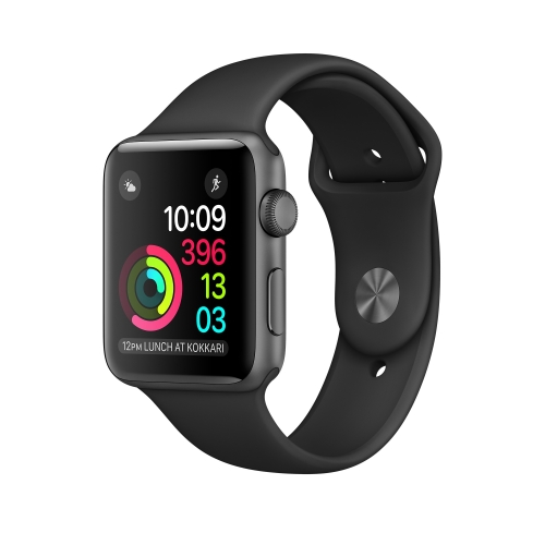 Часы Apple Watch Series 1 42mm Space Gray Aluminum Case with Black Sport Band (MP032)