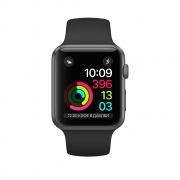 Акция! Apple Watch Series 2 38mm Space Gray Aluminum Case with Black Sport Band (MP0D2)