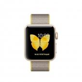 Б/У Apple Watch Series 2 38mm Gold Aluminum Case with Yellow/Light Gray Woven Nylon Band (MNP32)