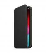 Чехол для смартфона Apple iPhone XS Leather Folio - Black (MRWW2)