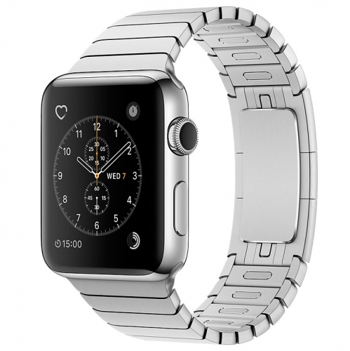 Часы Apple Watch Series 2 42mm Stainless Steel Case with Silver Link Bracelet (MNPT2)