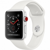 Apple Watch Series 3 GPS + Cellular 42mm Silver Aluminum Case with White Sport Band (MTGR2)