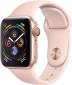 Б/У Apple Watch Series 4 GPS + LTE 40mm Gold Alum. w. Pink Sand Sport b. Gold Alum. (MTUJ2, MTVG2) - Новые, актив, весь комплект
