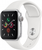 Б/У Apple Watch Series 5 40mm Silver Aluminium Case with White Sport Band (MWV62)