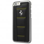 Чехол Ferrari 458 Leather Hard Case for iPhone 6 Plus/6S Plus Black with Yellow Stitch (FE458HCP6LBLY)