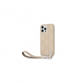 Moshi Altra Slim Hardshell Case with Wrist Strap for iPhone 13 Pro Max, Sahara Beige (99MO117704)