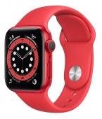 Apple Watch Series 6 40mm GPS Red Aluminum Case with (PRODUCT) RED Sport Band (M00A3) (Open Box)