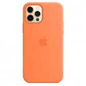 Apple Silicone Case with MagSafe for iPhone 12 Pro Max, Kumquat 1:1