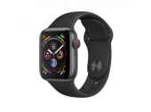 Б/У Apple Watch Series 4 GPS + LTE 44mm Gray Alum. w. Black Sport b. Gray Alum. (MTUW2, MTVU2) - Витринный вариант