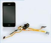 Шлейф iPhone 2G c разъемом наушников, кнопками громкости, вкл/выкл, перекл. вибро (audio flex cable) copy