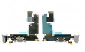 Шлейф с разъёмом зарядки, наушников и микрофоном (Charger flat cable connector with HF) iPhone 6 Plus Grey/White