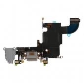 Шлейф зарядки и гарнитуры (Flat Cable Charger Connector with HF) для iPhone 6S Original Black