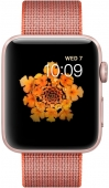 Часы  Apple Watch Series 2 42mm Rose Gold Aluminum Case with Space OrangeAnthracite Woven Nylon Band (MNPM2)