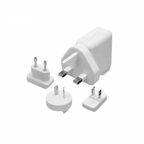 Capdase Dual USB Power Adapter World Travel Kit White for iPad/iPhone/iPod