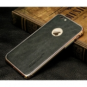 Jisoncase Retro Series + Genuine Leather for iPhone 6/6S Plus, Black