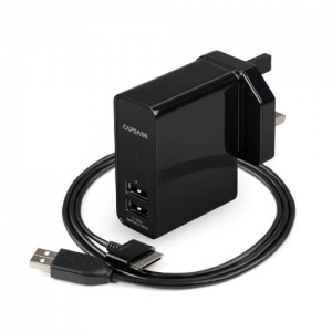 Capdase Dual USB Power Adapter&Cable Armo R2S Black (3.1 A) for Smartphone/Tablet (TKSGN8000-AS01)