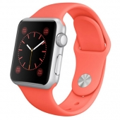 Часы Apple Watch Sport 38mm Silver Aluminum Case with Pink Sport Band (MJ2W2)