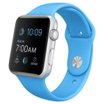 Б/У Apple Watch Sport 42mm Silver Aluminum Case with Blue Sport Band (MJ3Q2)