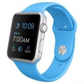 Часы Apple Watch Sport 42mm Silver Aluminum Case with Blue Sport Band (MLC52)